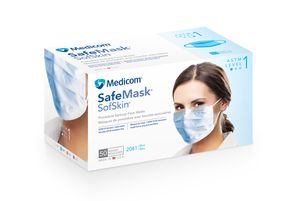 Medicom Sof Skin Blue Earloop Mask, 50/bx