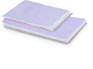 10 x 10 Lavender Tissue/Poly Head Rest Covers, Box of 500 Covers.