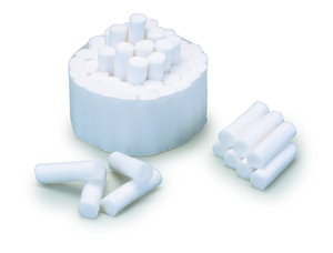 Plain Wrapped Cotton Rolls 1-1/2 x 3/8, #2 Medium Non-Sterile, Box of 2000.