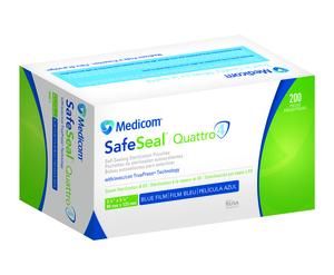 06efde18 3.50 x 5.25 Self-Sealing Sterilization Pouches 200/Pk. Paper/Blue Film