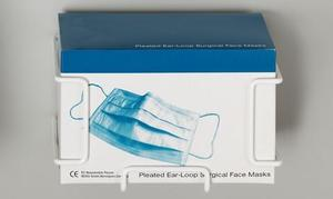 Hold-It Earloop Pleated Mask Holder, can be mounted easily in accessible areas to prevent clutter. Mounted to walls, the side of cabinetry or on the i
