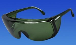 Protective Safety Glasses - Green Frame/Green Lens. Economical, durable no frills eye protection in an ultra-light frame. High impact polycarbonat
