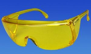 Protective Safety Glasses - Yellow Frame/Yellow Lens. Economical, durable no frills eye protection in an ultra-light frame. High impact polycarbon