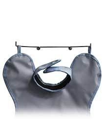 CC Style Apron Hanger, Sturdy steel hanger. For use with our adult and child Patient and ProtectAll aprons only. Wall mounting, hardware included. 15