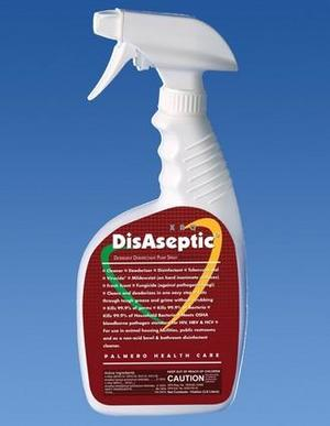 DisAseptic XRQ Disinfectant/Cleaner - 32 oz. Pump Spray. Quaternary ammonium-based detergent, ready-to-use, one step. Kills TB; bactericidal, fungicid