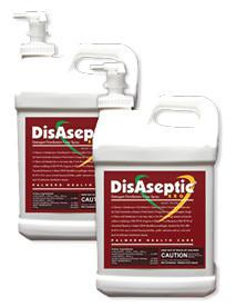 DisAseptic XRQ Disinfectant/Cleaner - Case of 2 x 2.5 Gallon Bottles and Spigot. Quaternary ammonium-based detergent, ready-to-use, one step. Kills TB