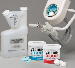 Shock & Clean Kit with Pour and Clean Bottle: 6 tablets jar of Vacuum Shock, 45 tablets jar of Vacuum Clean and 16 ounce mixing & dispensing bottle of