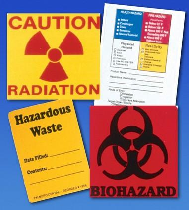 57-3549 OSHA Value Label Pack Kit, Easily identify all hazardous substances, waste and radiation areas. Kit includes 5 Caution Radiation Labels #1957 and 10