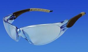Pro-Vision Contour Wrap Eyewear - Ice Blue Lens and Black/Grey Frame. Adjustable, Lightweight Polycarbonate. Fog-free and scratch-resistant. Meets ANS