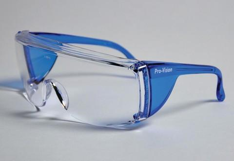 57-3556B End-Fog Eyewear - Blue Frames with Clear Lens, Extra anti-fog coating sets End-Fog apart from other economy eyewear. Features a secure snug fit and op