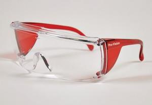 End-Fog Eyewear - Red Frames with Clear Lens, Extra anti-fog coating sets End-Fog apart from other economy eyewear. Features a secure snug fit and opt