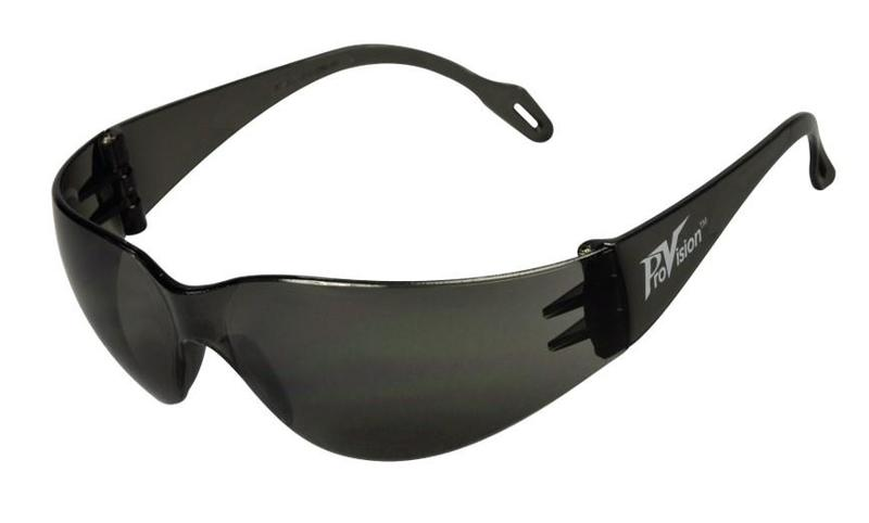 57-3601G Econo Wrap Eyewear - Gray Frame & Lens with UVA and UVB Protection, 1/Pk. Feather-weight, low-cost eye protection that offers a universal fit, superio