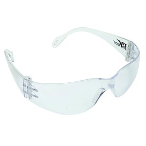Mini Econo Wrap Eyewear - Clear Frame / Clear Lense. Lightweight and Economical, Features a Narrower Width for Children ans Adults with Smaller Framed