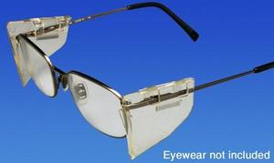 Side Shields, Clear, Slip-On Rigid Plastic Shields, Easily add much needed protection to your existing prescription eyewear. Just attach shields to th