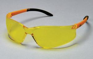 Bad Dogs Eyewear - Yellow Frame / Yellow Wraparound Lens, with Uninterrupted Peripheral View. Featherweight, Fog-free, Scratch Resistant. Single pair