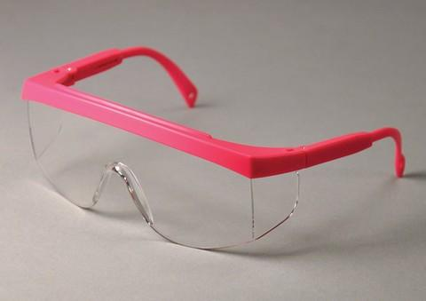57-3705P MiniWrap Eyewear, Pink Frame - Clear Lens Safety glasses, A scaled-down version of a popular style, made to provide a much better fit for children or