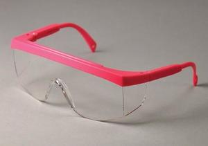 MiniWrap Eyewear, Pink Frame - Clear Lens Safety glasses, A scaled-down version of a popular style, made to provide a much better fit for children or