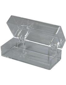 Clear Hinged Box 2-7/8 x 1-13/16 x 1 to store or organize multiple items in your dental office, single box.