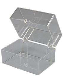 Clear Hinged Box 2 7/8 x 2 x 2 to store or organize multiple items in your dental office, single box.