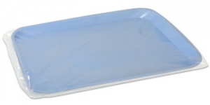 "10.50"" x 14"" Clear Plastic B Tray Sleeves, Box of 500."