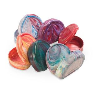 Marbled-Colored Retainer Cases, 24/pk
