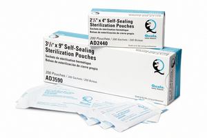 "Quala Sterilization Pouches, 3 1/2"" x 5 1/4"", 200/bx"