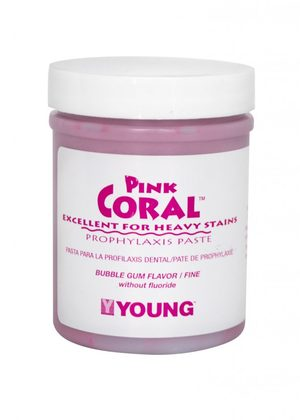 Pink Coral Bubblegum Coarse Prophy Paste Without Fluuoride, 9 oz. Jar.