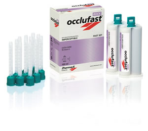 Occlufast Rock - Bite Registration Material, Thixotropic, Extra Rigid, Fast 60 second Set