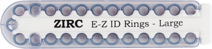 "E-Z ID Instrument Rings Large 1/4"" - Blue. Package of 25 Rings."