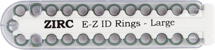 "E-Z ID Instrument Rings Large 1/4"" - Green. Package of 25 Rings."