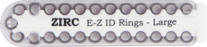 "E-Z ID Instrument Rings Large 1/4"" - Gray. Package of 25 Rings."