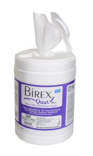 Birex Quat Disinfectant Wipes, 160/cn
