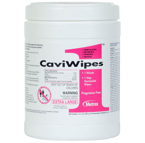 11-135100 CaviWipes1 Disinfecting Towelette, 160 wipes