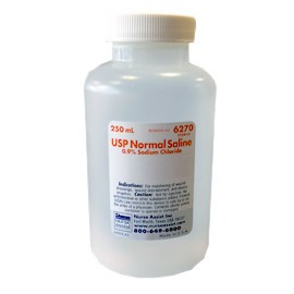 Nurse Assist Saline 0.9%, Sterile 250mL Bottle