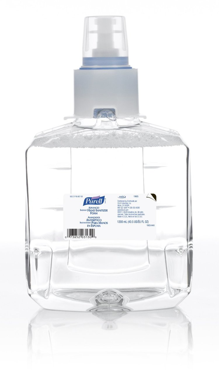 133-1905-02 Purell LTX-12 Advanced Instant Hand Sanitizer, 1200ml, 2/cs