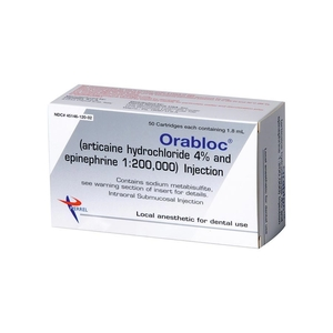 OraBloc Articaine 1:200,000 Anesthetic, 50/bx