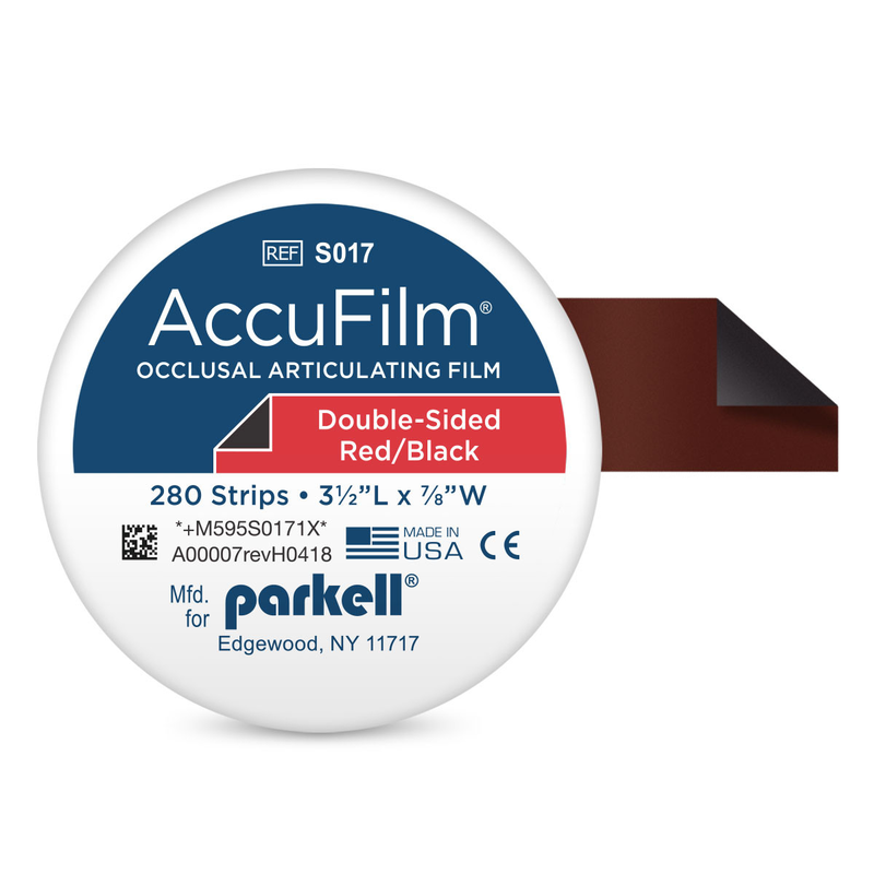 138-S017 Accufilm II Red/Black Articulating Paper, 280/bx
