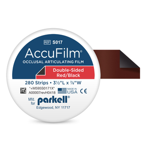 Accufilm II Red/Black Articulating Paper, 280/bx