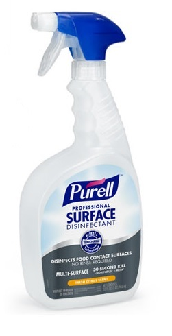 Purell Healthcare Surface Disinfectant, 32oz. Spray Bottle