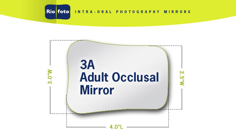 112-3A Riofoto #3 Adult Occlusal Intra-Oral Mirror