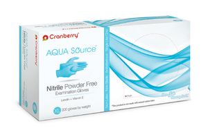 Aqua Source Nitrile PF X-Small Gloves, 200/bx