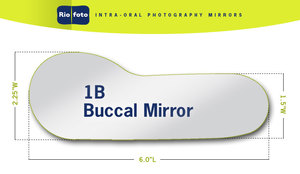 Riofoto 1B Adult Buccal Intra-Oral Mirror
