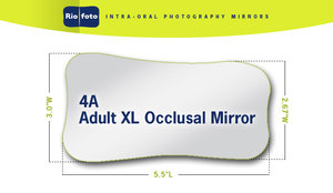 Riofoto #4A Adult X-Long Occlusal Intra-Oral Mirror