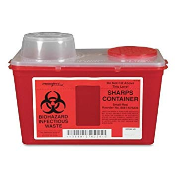 26-676236 Monoject Small 4qt. Red Sharps Container