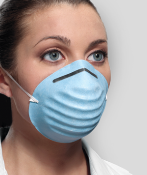 Surgical Molded Cone Masks Blue, Headband, 50bx.