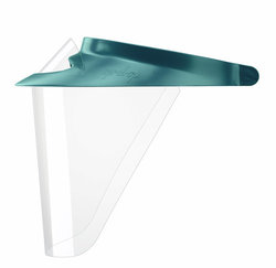 Op-d-Op ABS Shield Kit - Teal. 1 Medium Visor, 3 Surgical Size Shields, 1 Mini-Shield and Light-Cure