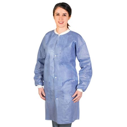 Medflex Lab Coats - Blue Medium, 10pk