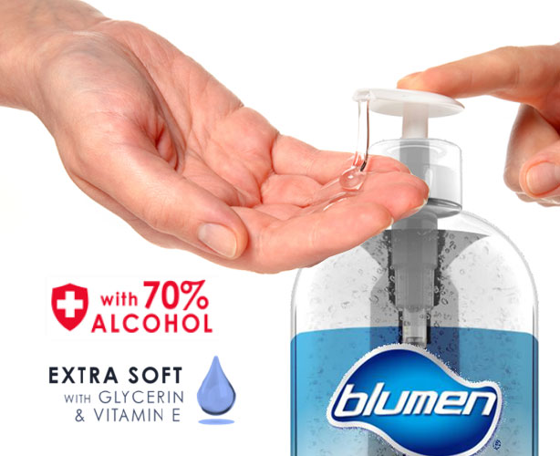 109-5051405 Blumen Advanced Instant Hand Sanitizer with Glycerin and Vit E, 33.8 fl oz