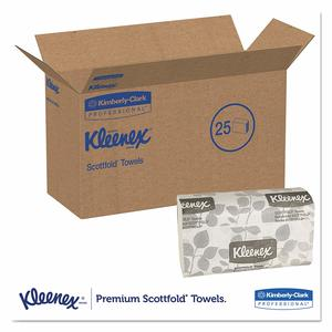 Kleenex ScottFold Towels, 1-Ply, 3000/cs