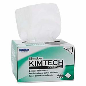 "Kimwipes 4.5"" x 8.45"" White Delicate Task Wipes,280/bx, 60bx/cs"